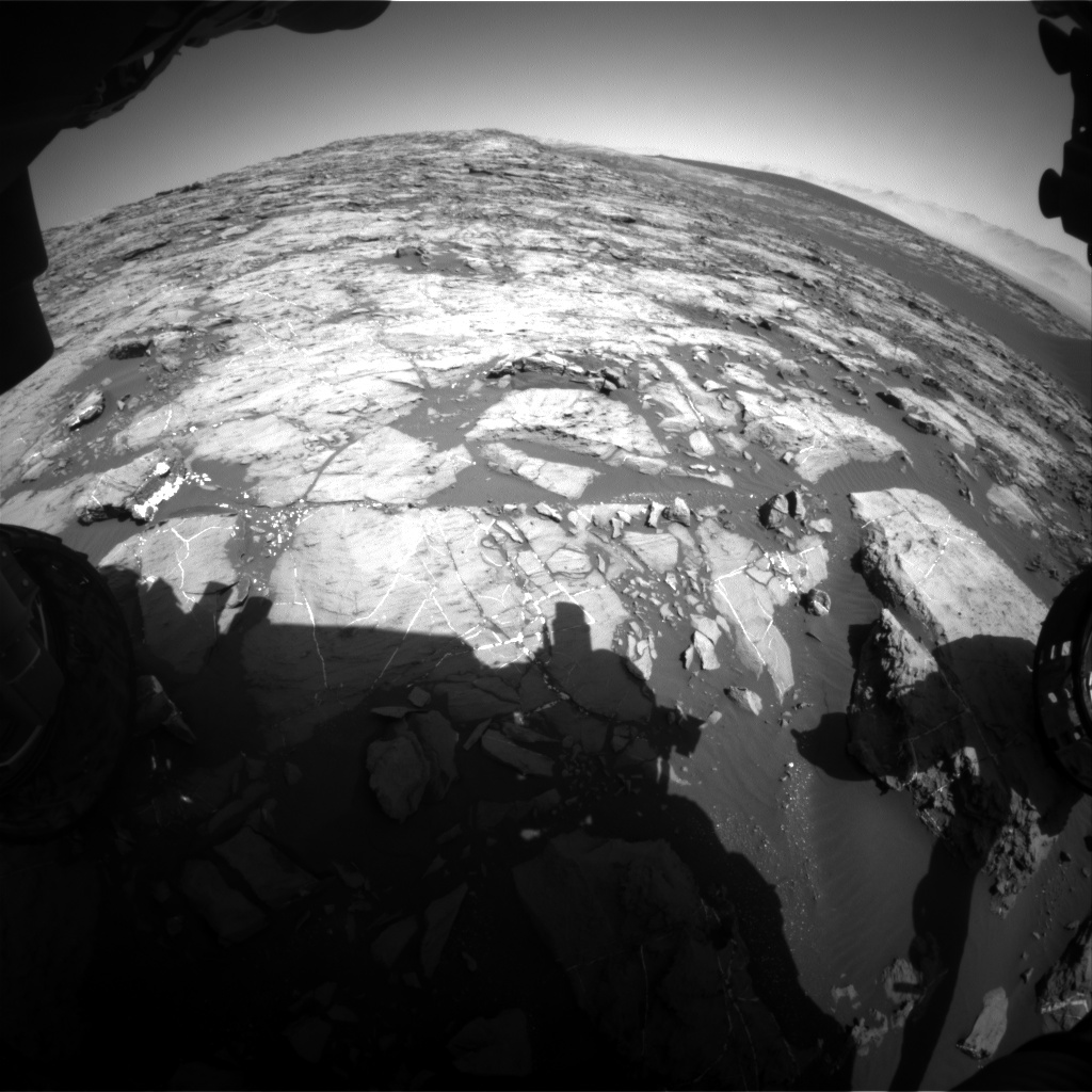 Nasa's Mars rover Curiosity acquired this image using its Front Hazard Avoidance Camera (Front Hazcam) on Sol 1198, at drive 0, site number 52