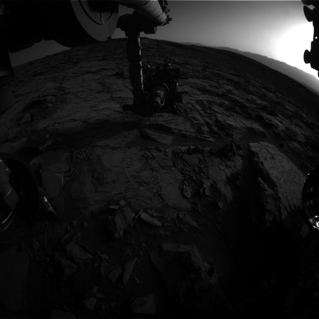 Nasa's Mars rover Curiosity acquired this image using its Front Hazard Avoidance Camera (Front Hazcam) on Sol 1200, at drive 0, site number 52