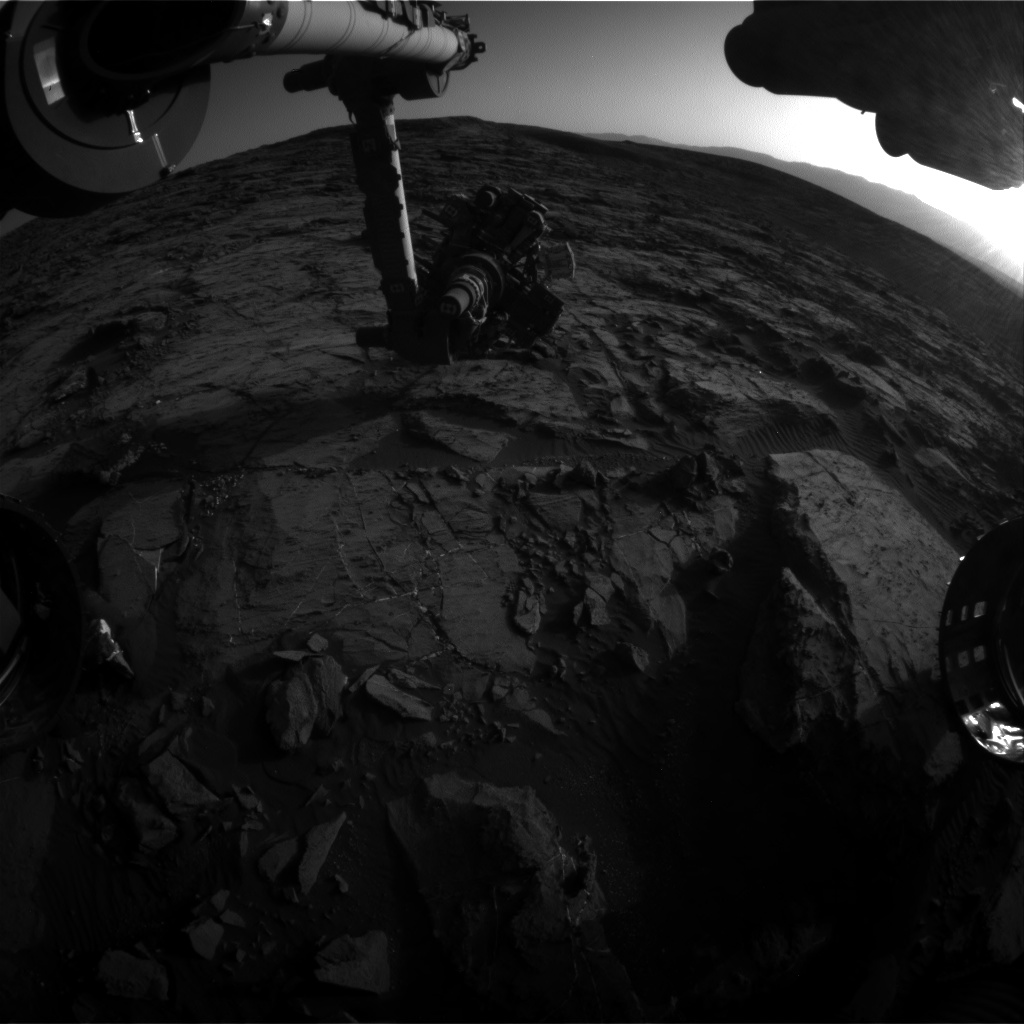 Nasa's Mars rover Curiosity acquired this image using its Front Hazard Avoidance Camera (Front Hazcam) on Sol 1202, at drive 0, site number 52