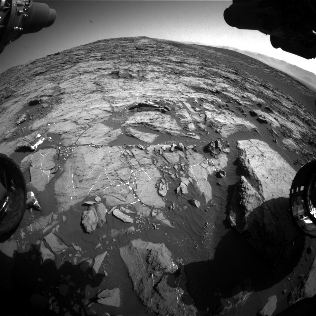 Nasa's Mars rover Curiosity acquired this image using its Front Hazard Avoidance Camera (Front Hazcam) on Sol 1203, at drive 0, site number 52