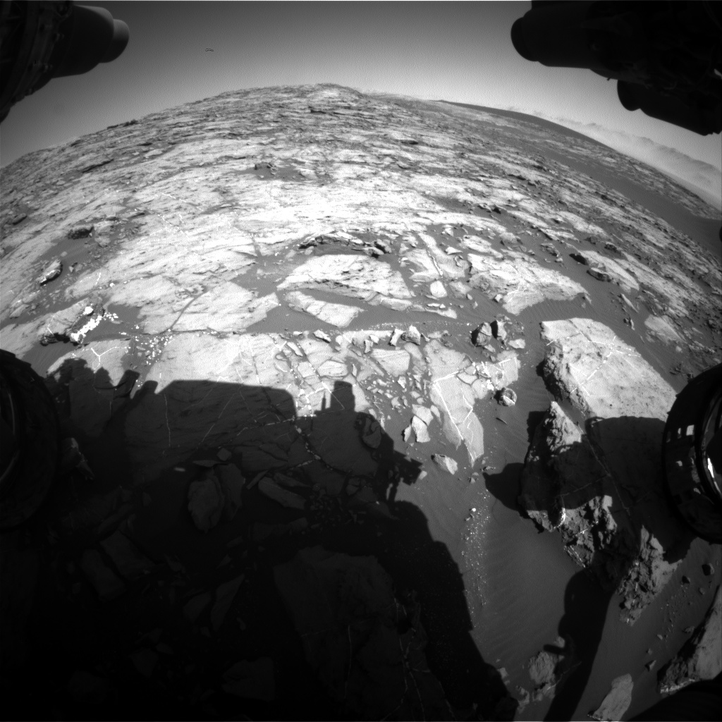 Nasa's Mars rover Curiosity acquired this image using its Front Hazard Avoidance Camera (Front Hazcam) on Sol 1204, at drive 0, site number 52