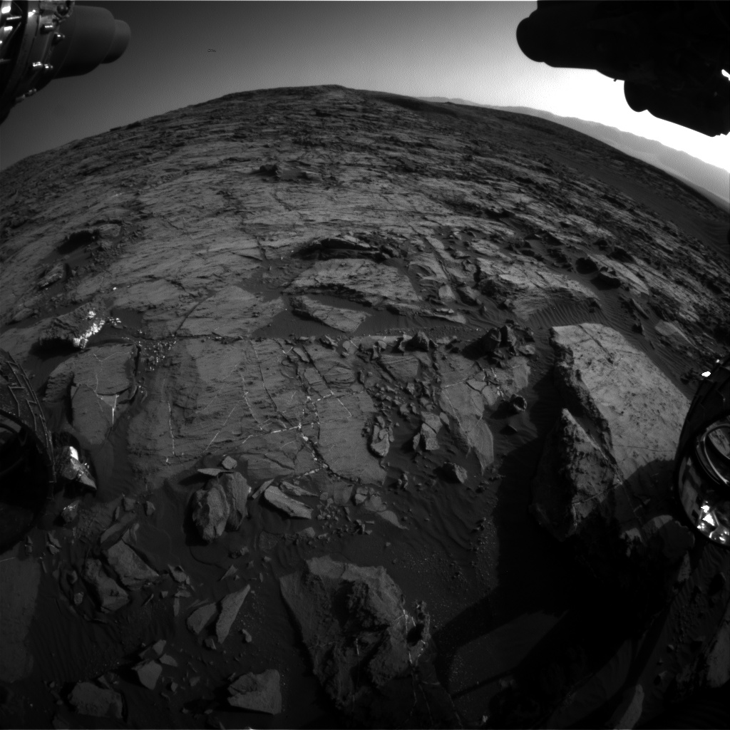 Nasa's Mars rover Curiosity acquired this image using its Front Hazard Avoidance Camera (Front Hazcam) on Sol 1204, at drive 4, site number 52