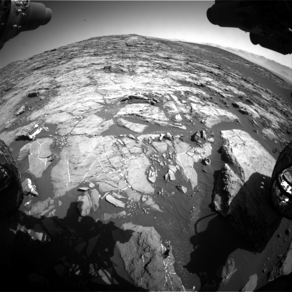 Nasa's Mars rover Curiosity acquired this image using its Front Hazard Avoidance Camera (Front Hazcam) on Sol 1205, at drive 4, site number 52