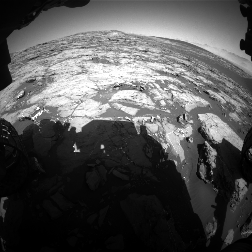 Nasa's Mars rover Curiosity acquired this image using its Front Hazard Avoidance Camera (Front Hazcam) on Sol 1206, at drive 4, site number 52