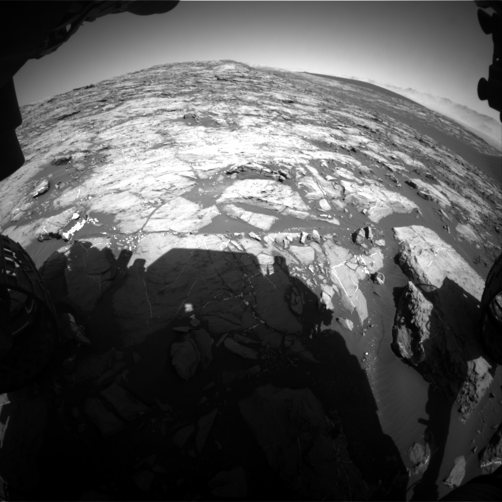 Nasa's Mars rover Curiosity acquired this image using its Front Hazard Avoidance Camera (Front Hazcam) on Sol 1207, at drive 4, site number 52