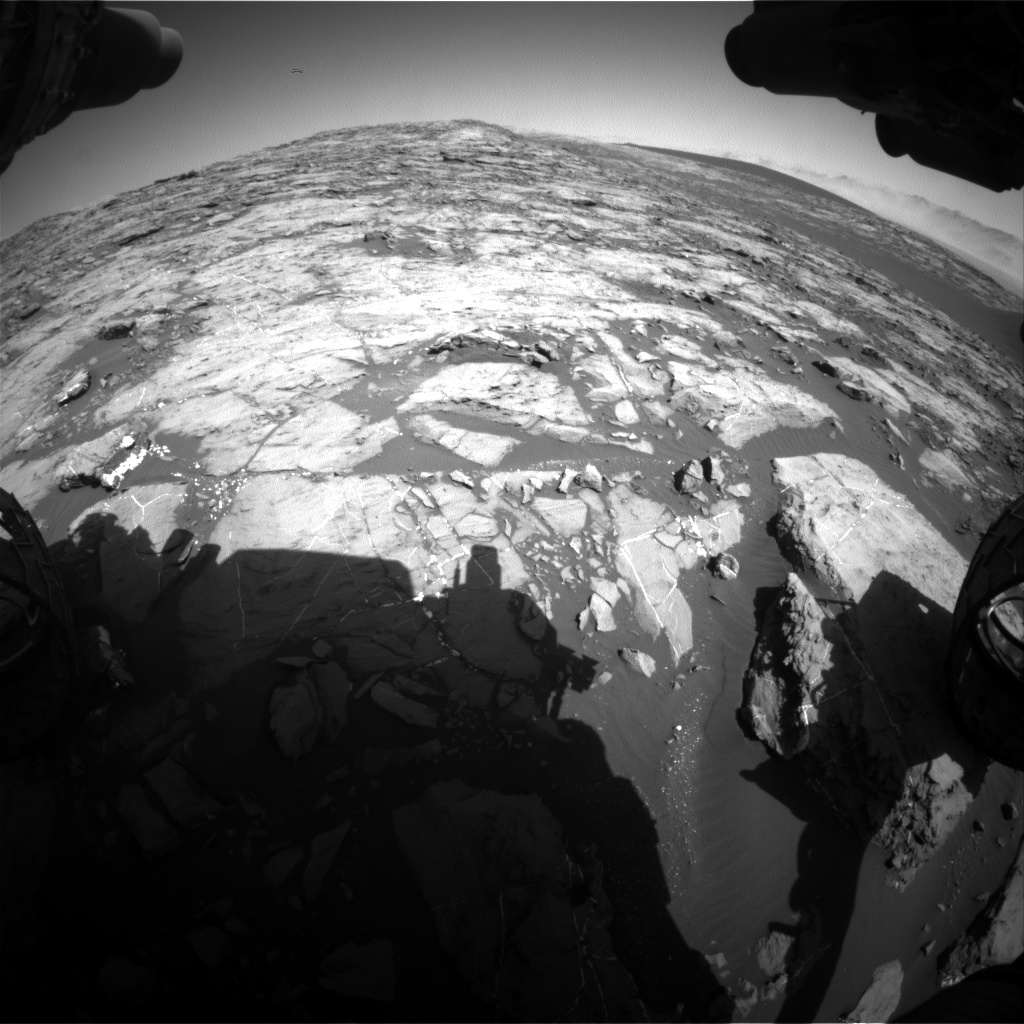 Nasa's Mars rover Curiosity acquired this image using its Front Hazard Avoidance Camera (Front Hazcam) on Sol 1208, at drive 4, site number 52