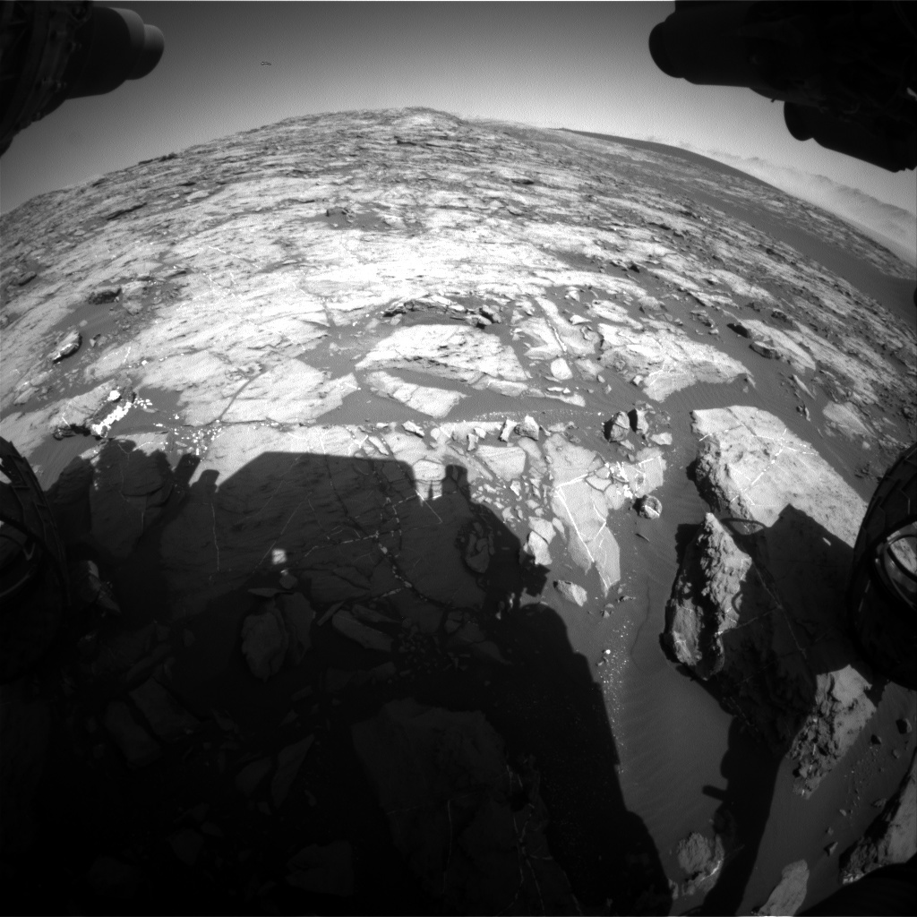 NASA's Mars rover Curiosity acquired this image using its Front Hazard Avoidance Cameras (Front Hazcams) on Sol 1210