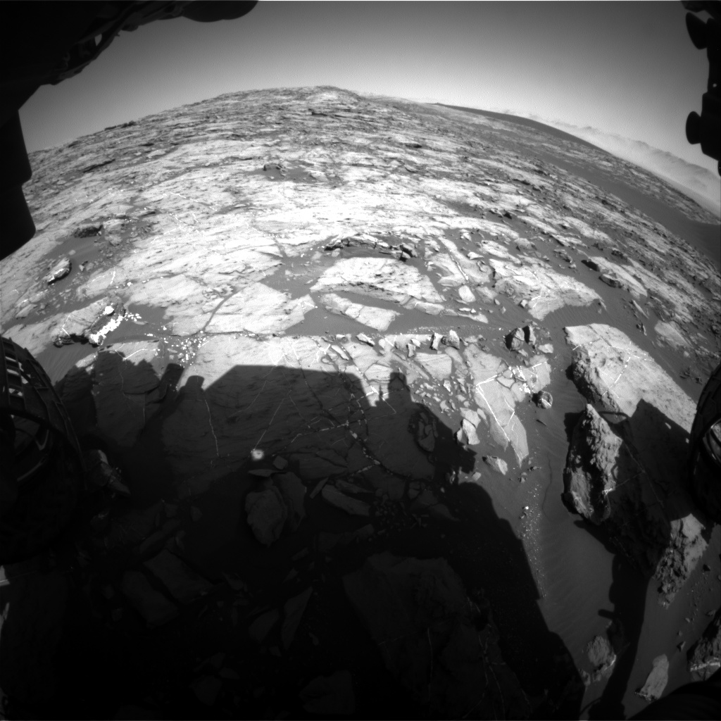 Nasa's Mars rover Curiosity acquired this image using its Front Hazard Avoidance Camera (Front Hazcam) on Sol 1212, at drive 4, site number 52