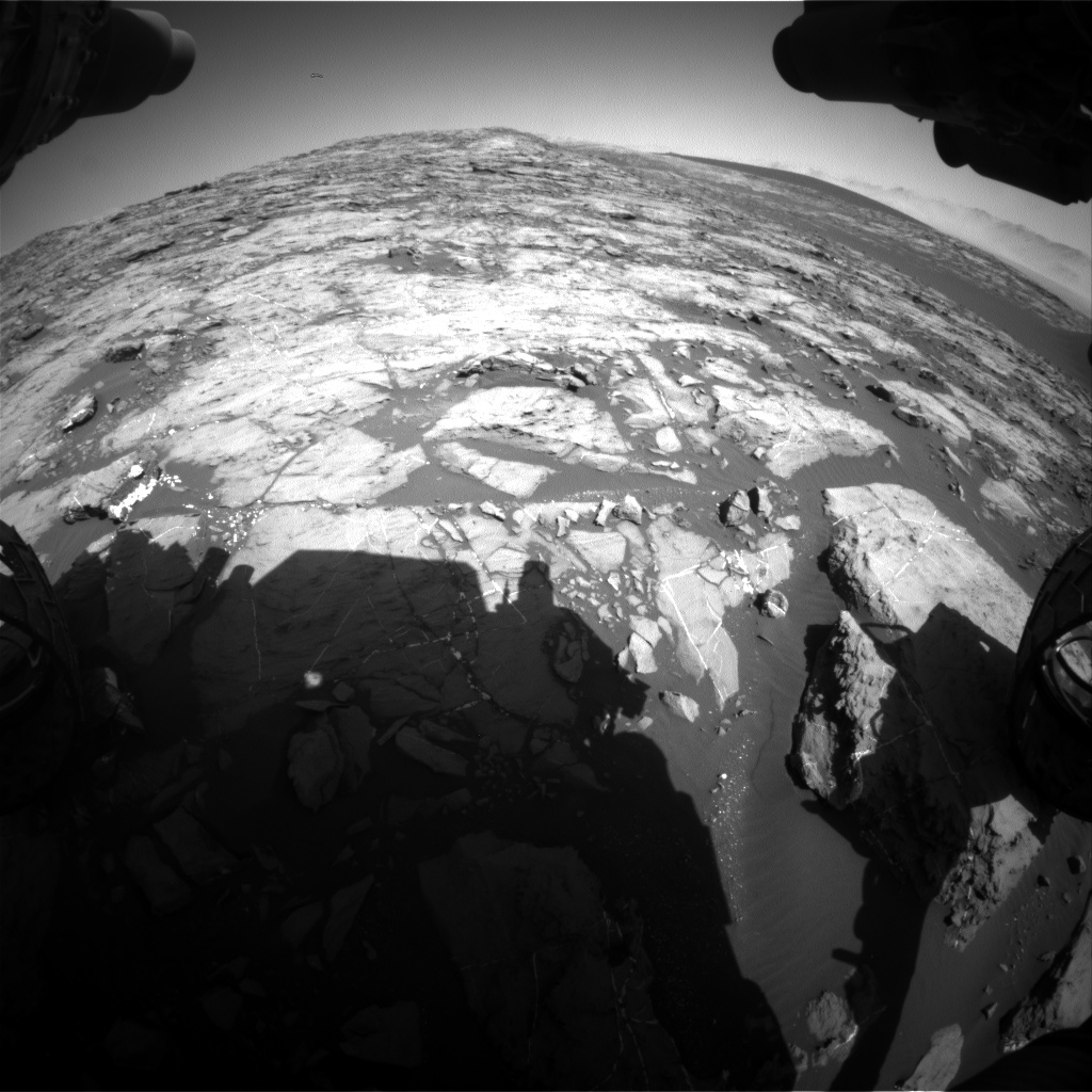 Nasa's Mars rover Curiosity acquired this image using its Front Hazard Avoidance Camera (Front Hazcam) on Sol 1213, at drive 4, site number 52