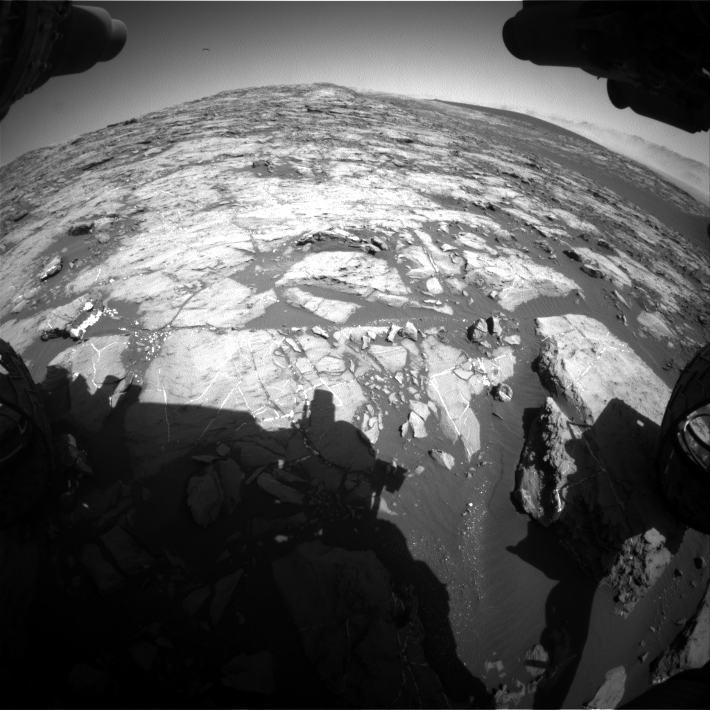 Nasa's Mars rover Curiosity acquired this image using its Front Hazard Avoidance Camera (Front Hazcam) on Sol 1215, at drive 4, site number 52