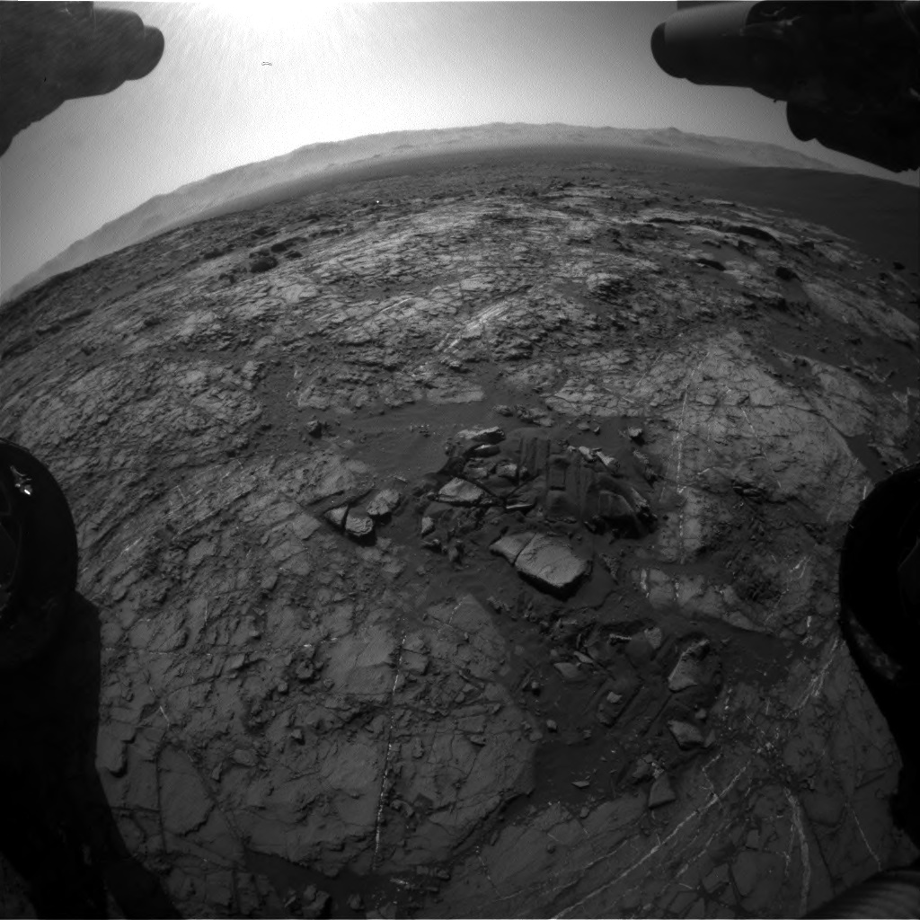 Nasa's Mars rover Curiosity acquired this image using its Front Hazard Avoidance Camera (Front Hazcam) on Sol 1215, at drive 614, site number 52