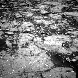 Nasa's Mars rover Curiosity acquired this image using its Left Navigation Camera on Sol 1215, at drive 10, site number 52