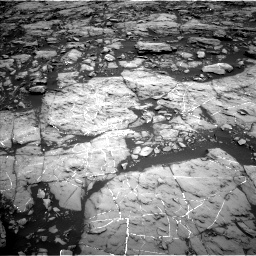 Nasa's Mars rover Curiosity acquired this image using its Left Navigation Camera on Sol 1215, at drive 40, site number 52