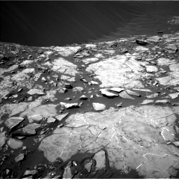 Nasa's Mars rover Curiosity acquired this image using its Left Navigation Camera on Sol 1215, at drive 76, site number 52