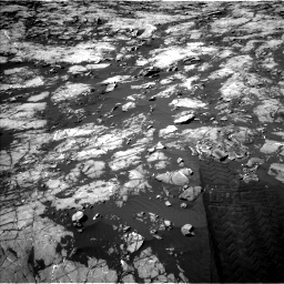 Nasa's Mars rover Curiosity acquired this image using its Left Navigation Camera on Sol 1215, at drive 202, site number 52