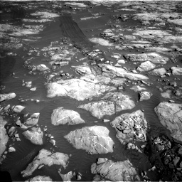 Nasa's Mars rover Curiosity acquired this image using its Left Navigation Camera on Sol 1215, at drive 496, site number 52