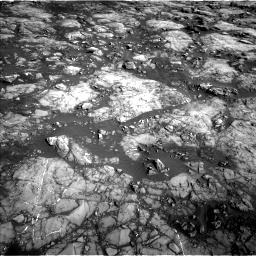 Nasa's Mars rover Curiosity acquired this image using its Left Navigation Camera on Sol 1215, at drive 544, site number 52