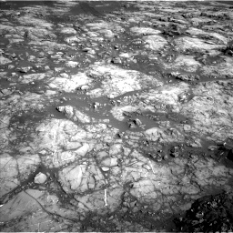 Nasa's Mars rover Curiosity acquired this image using its Left Navigation Camera on Sol 1215, at drive 550, site number 52