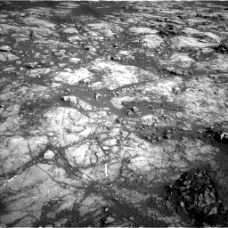 Nasa's Mars rover Curiosity acquired this image using its Left Navigation Camera on Sol 1215, at drive 556, site number 52