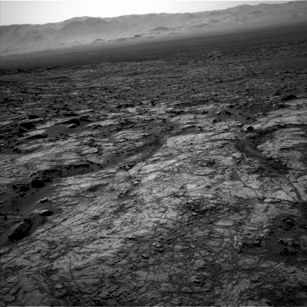 Nasa's Mars rover Curiosity acquired this image using its Left Navigation Camera on Sol 1215, at drive 614, site number 52