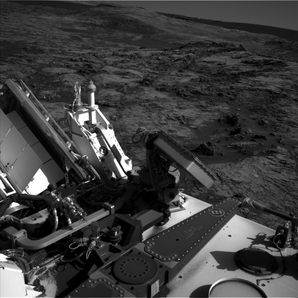 NASA's Mars rover Curiosity acquired this image using its Left Navigation Camera (Navcams) on Sol 1215