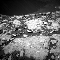 Nasa's Mars rover Curiosity acquired this image using its Right Navigation Camera on Sol 1215, at drive 76, site number 52