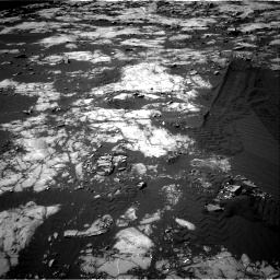Nasa's Mars rover Curiosity acquired this image using its Right Navigation Camera on Sol 1215, at drive 238, site number 52
