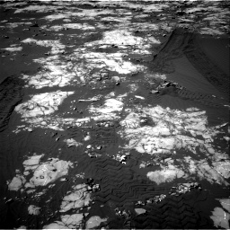 Nasa's Mars rover Curiosity acquired this image using its Right Navigation Camera on Sol 1215, at drive 250, site number 52