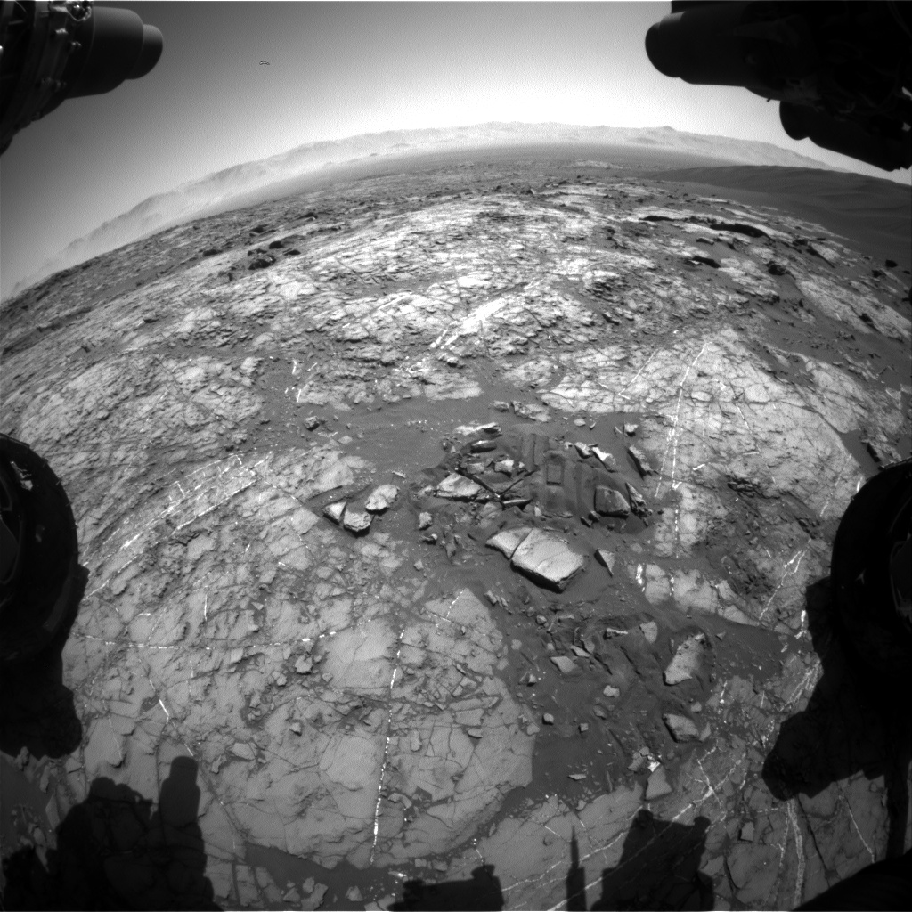 Nasa's Mars rover Curiosity acquired this image using its Front Hazard Avoidance Camera (Front Hazcam) on Sol 1216, at drive 614, site number 52
