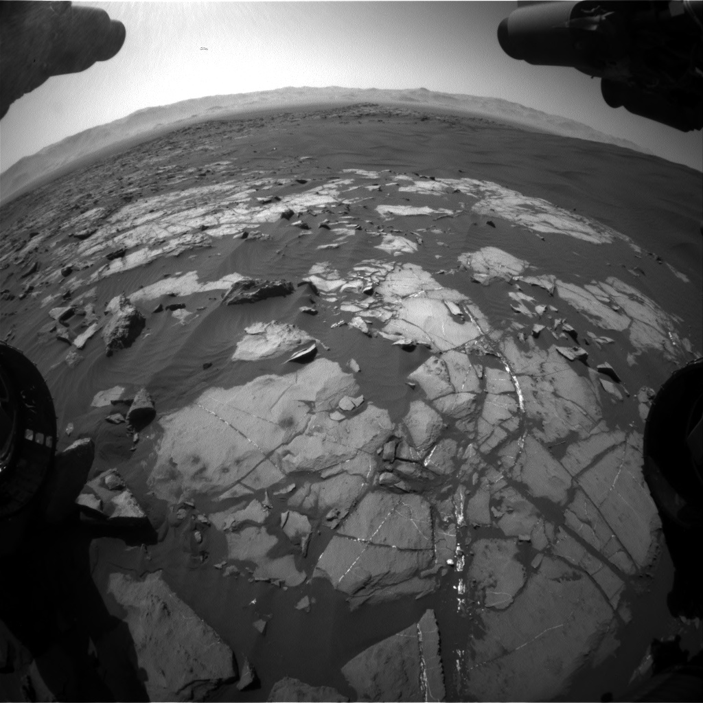 Nasa's Mars rover Curiosity acquired this image using its Front Hazard Avoidance Camera (Front Hazcam) on Sol 1216, at drive 936, site number 52