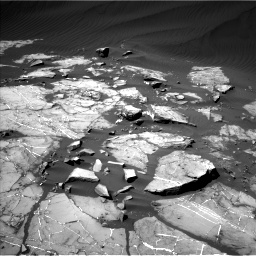 Nasa's Mars rover Curiosity acquired this image using its Left Navigation Camera on Sol 1216, at drive 644, site number 52