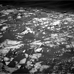 Nasa's Mars rover Curiosity acquired this image using its Left Navigation Camera on Sol 1216, at drive 806, site number 52
