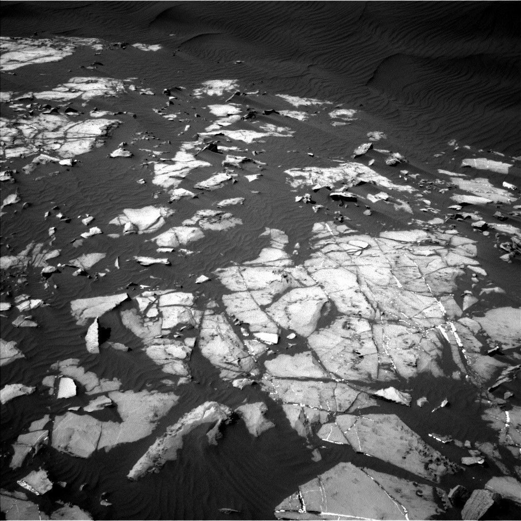 Nasa's Mars rover Curiosity acquired this image using its Left Navigation Camera on Sol 1216, at drive 878, site number 52