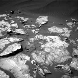 Nasa's Mars rover Curiosity acquired this image using its Right Navigation Camera on Sol 1216, at drive 638, site number 52