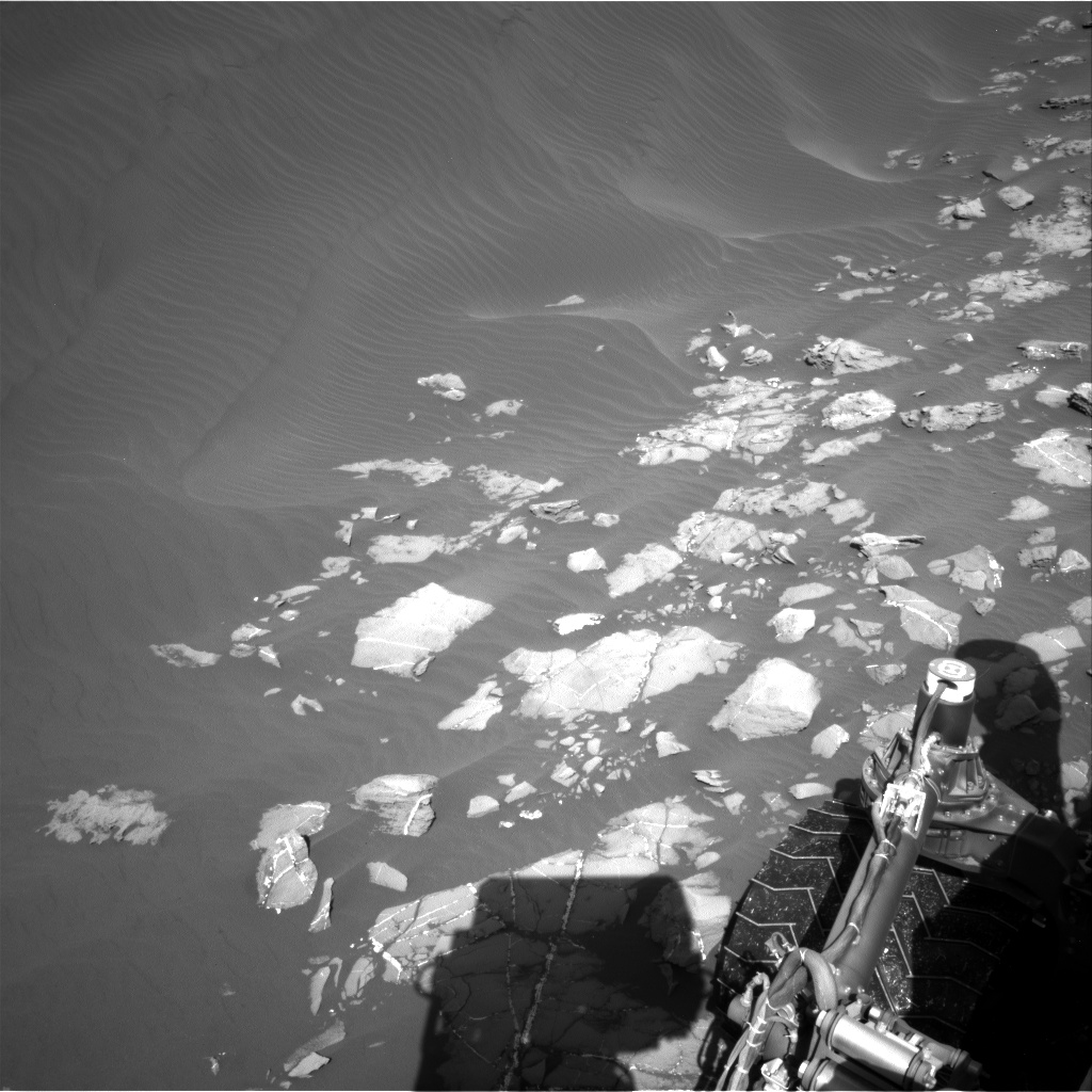 Nasa's Mars rover Curiosity acquired this image using its Right Navigation Camera on Sol 1216, at drive 936, site number 52