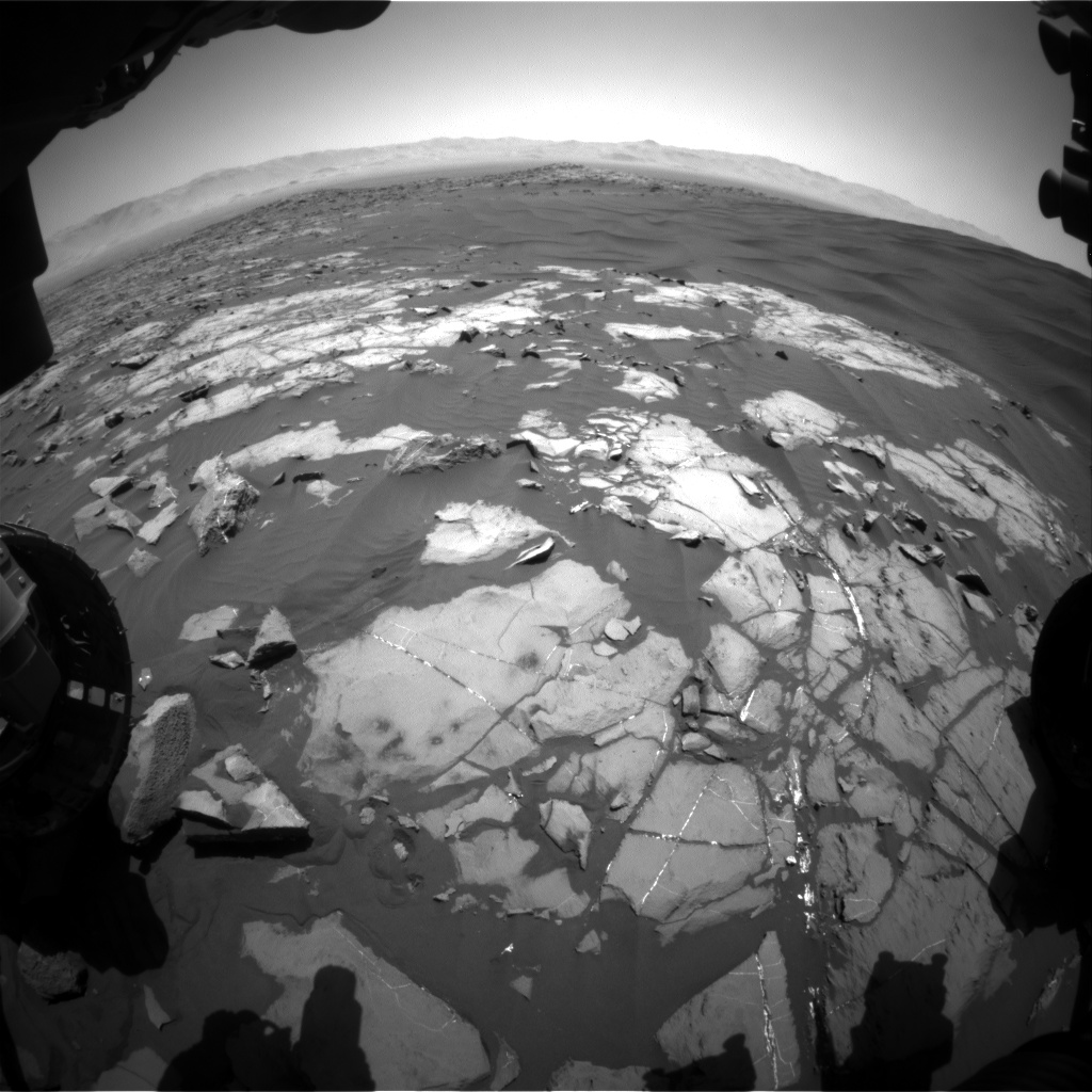 Nasa's Mars rover Curiosity acquired this image using its Front Hazard Avoidance Camera (Front Hazcam) on Sol 1217, at drive 936, site number 52