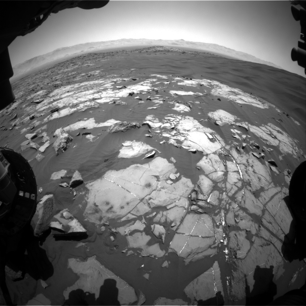 Nasa's Mars rover Curiosity acquired this image using its Front Hazard Avoidance Camera (Front Hazcam) on Sol 1219, at drive 936, site number 52