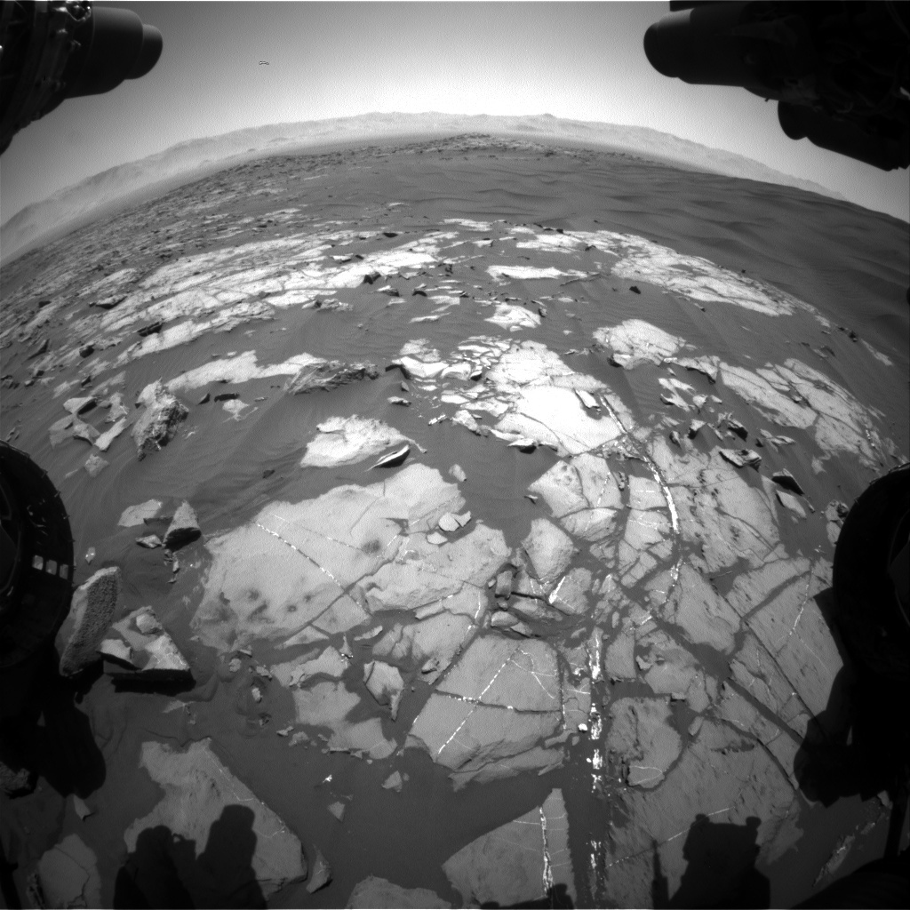 NASA's Mars rover Curiosity acquired this image using its Front Hazard Avoidance Cameras (Front Hazcams) on Sol 1219