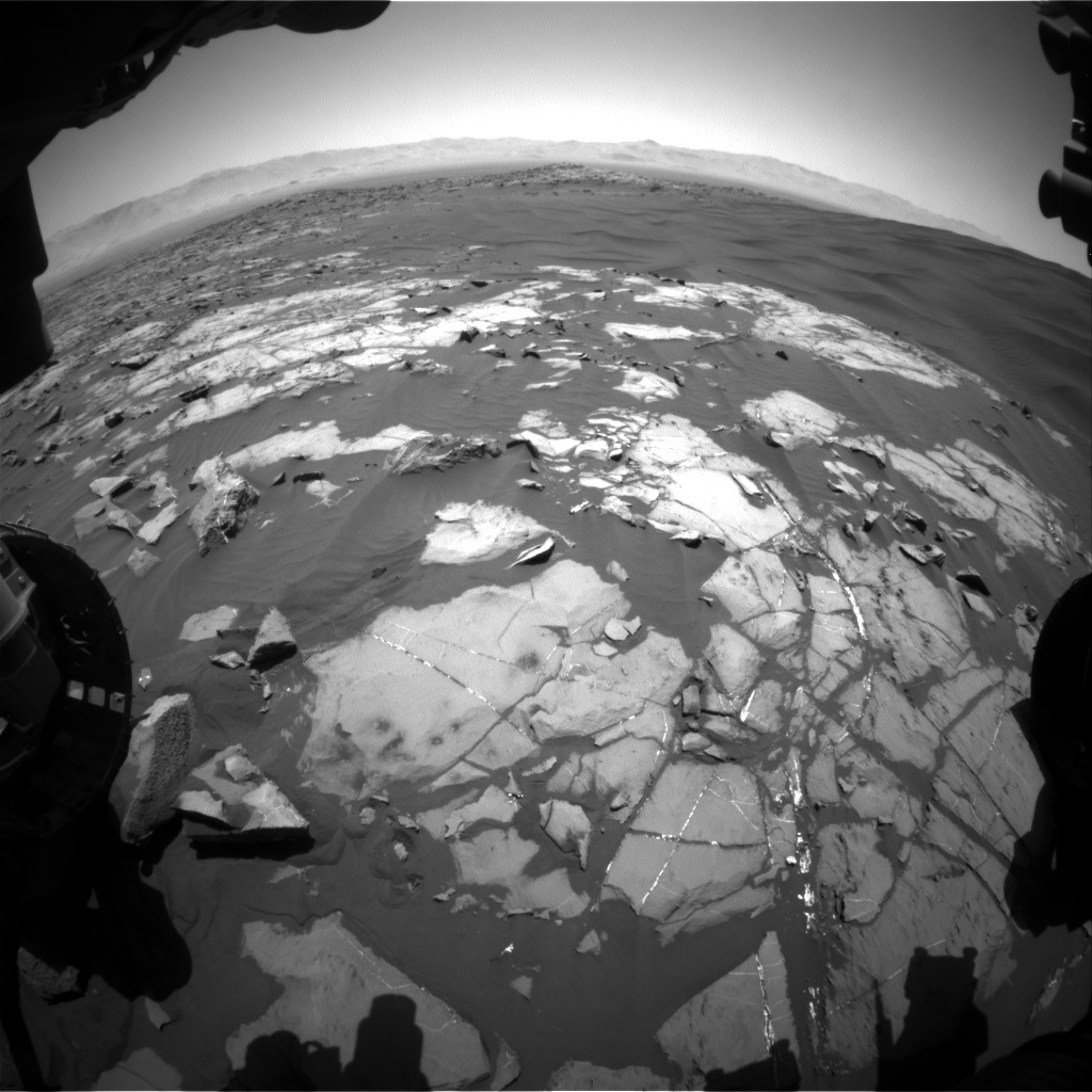 Nasa's Mars rover Curiosity acquired this image using its Front Hazard Avoidance Camera (Front Hazcam) on Sol 1221, at drive 936, site number 52
