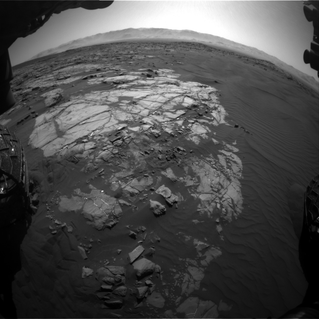 Nasa's Mars rover Curiosity acquired this image using its Front Hazard Avoidance Camera (Front Hazcam) on Sol 1221, at drive 1120, site number 52