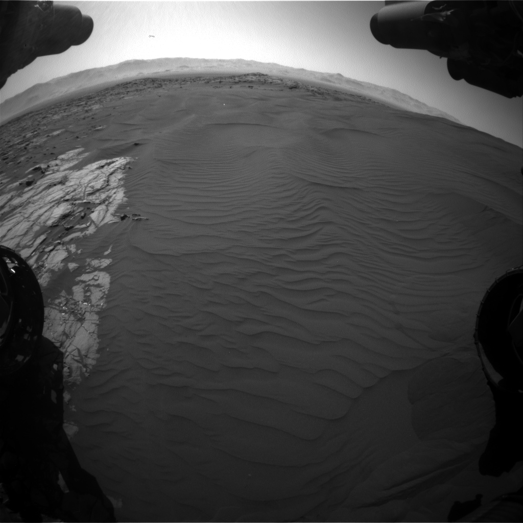 Nasa's Mars rover Curiosity acquired this image using its Front Hazard Avoidance Camera (Front Hazcam) on Sol 1221, at drive 1086, site number 52