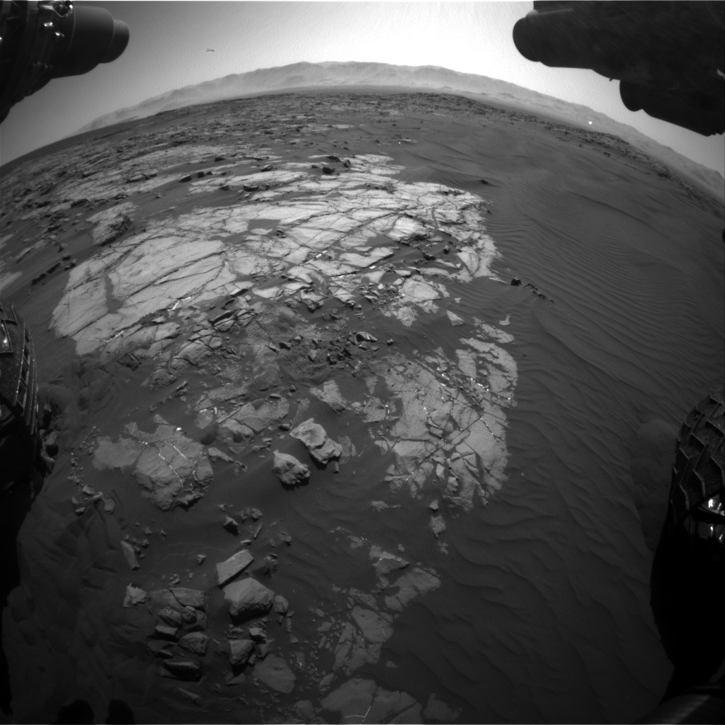 Nasa's Mars rover Curiosity acquired this image using its Front Hazard Avoidance Camera (Front Hazcam) on Sol 1221, at drive 1116, site number 52