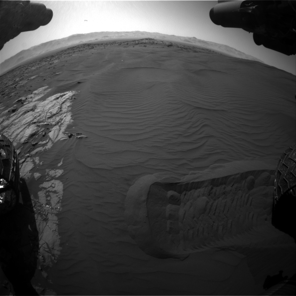 Nasa's Mars rover Curiosity acquired this image using its Front Hazard Avoidance Camera (Front Hazcam) on Sol 1221, at drive 1126, site number 52