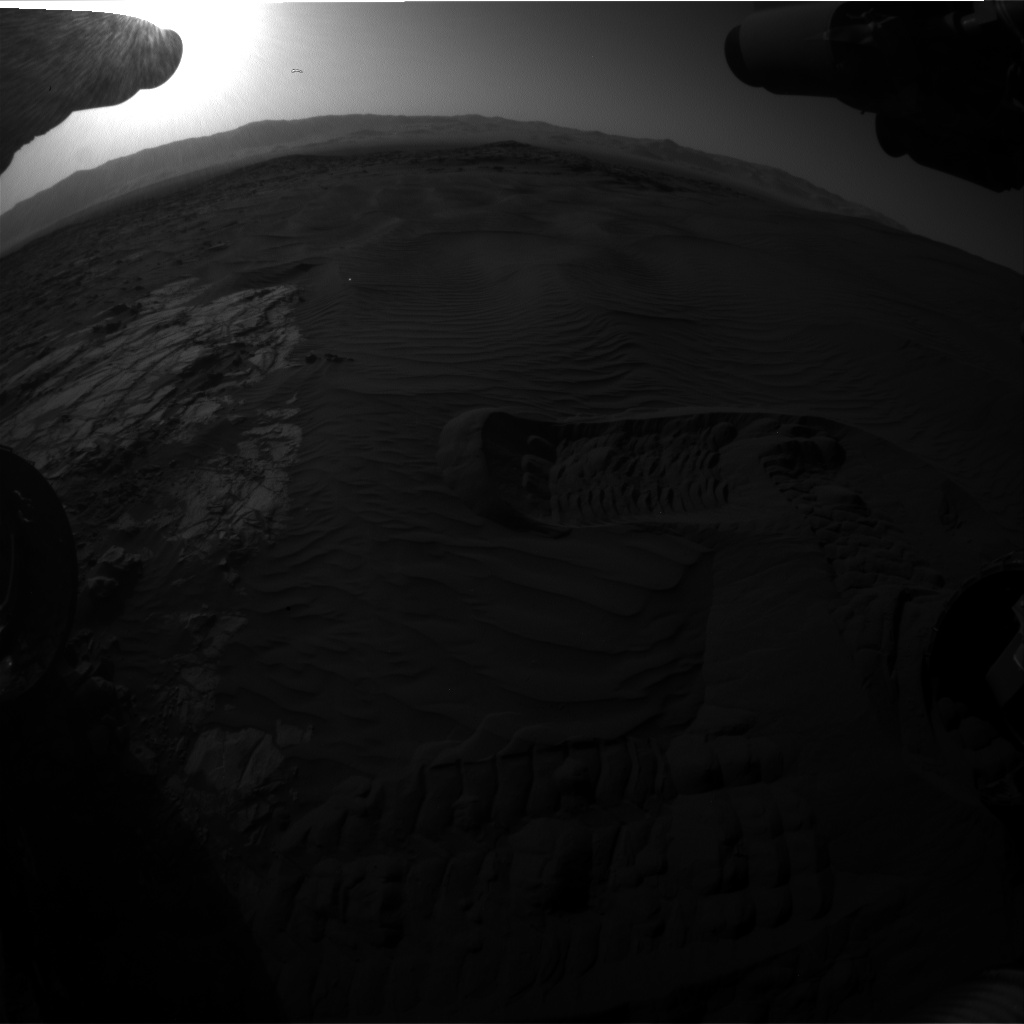 Nasa's Mars rover Curiosity acquired this image using its Front Hazard Avoidance Camera (Front Hazcam) on Sol 1221, at drive 1162, site number 52