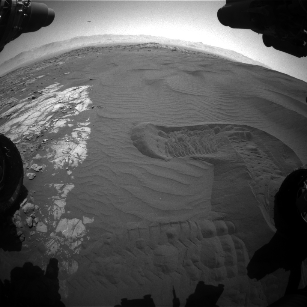 Nasa's Mars rover Curiosity acquired this image using its Front Hazard Avoidance Camera (Front Hazcam) on Sol 1222, at drive 1162, site number 52