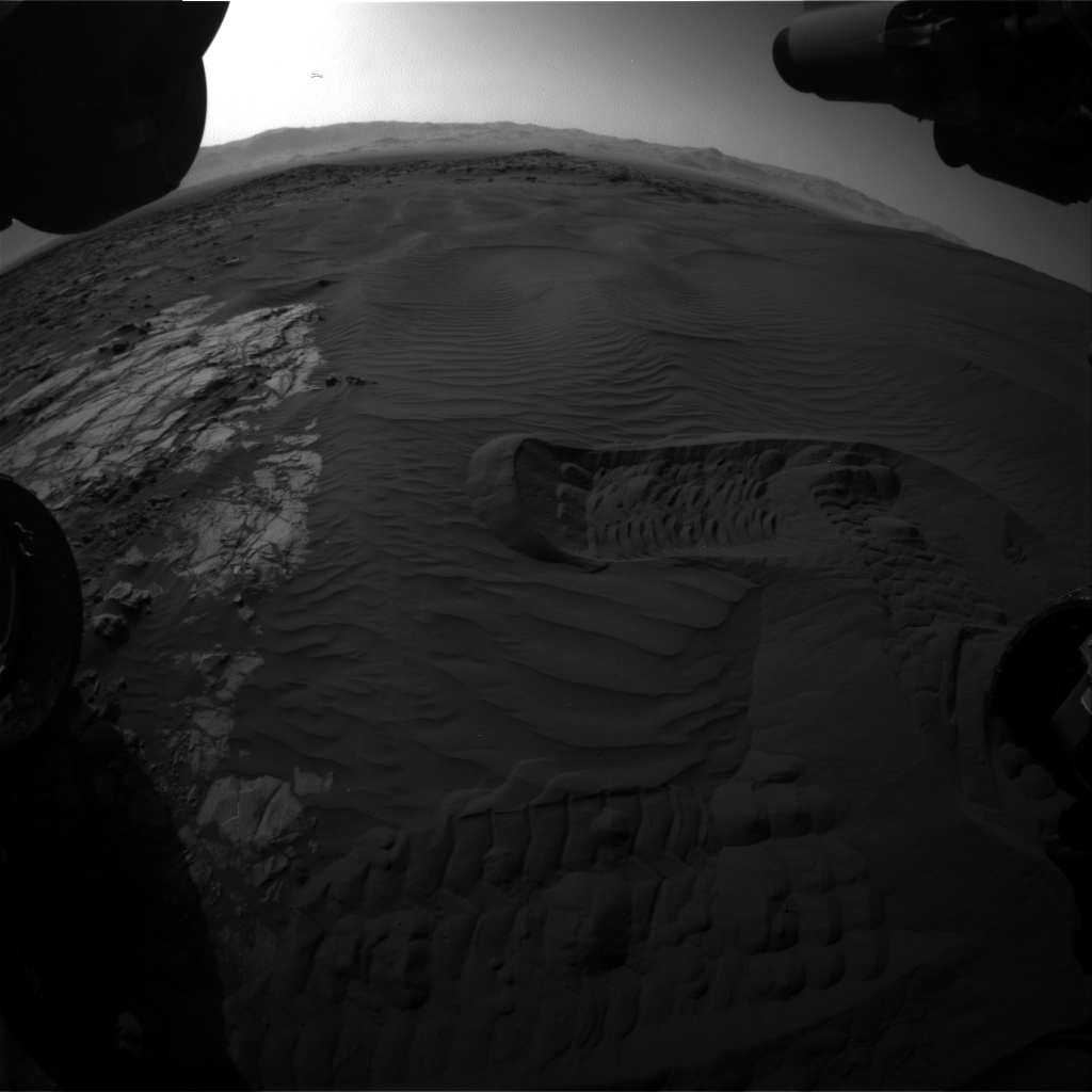 Nasa's Mars rover Curiosity acquired this image using its Front Hazard Avoidance Camera (Front Hazcam) on Sol 1223, at drive 1162, site number 52
