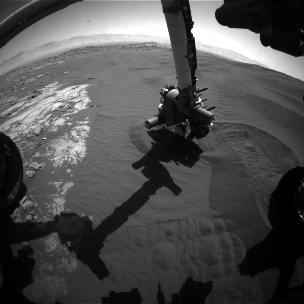 Nasa's Mars rover Curiosity acquired this image using its Front Hazard Avoidance Camera (Front Hazcam) on Sol 1224, at drive 1162, site number 52