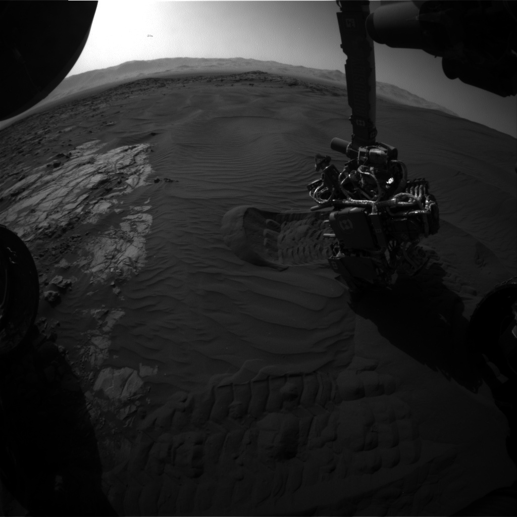 NASA's Mars rover Curiosity acquired this image using its Front Hazard Avoidance Cameras (Front Hazcams) on Sol 1224