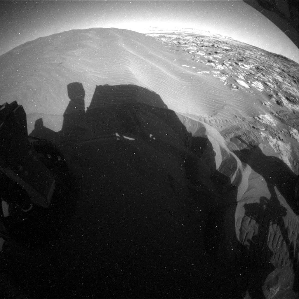 NASA's Mars rover Curiosity acquired this image using its Rear Hazard Avoidance Cameras (Rear Hazcams) on Sol 1224