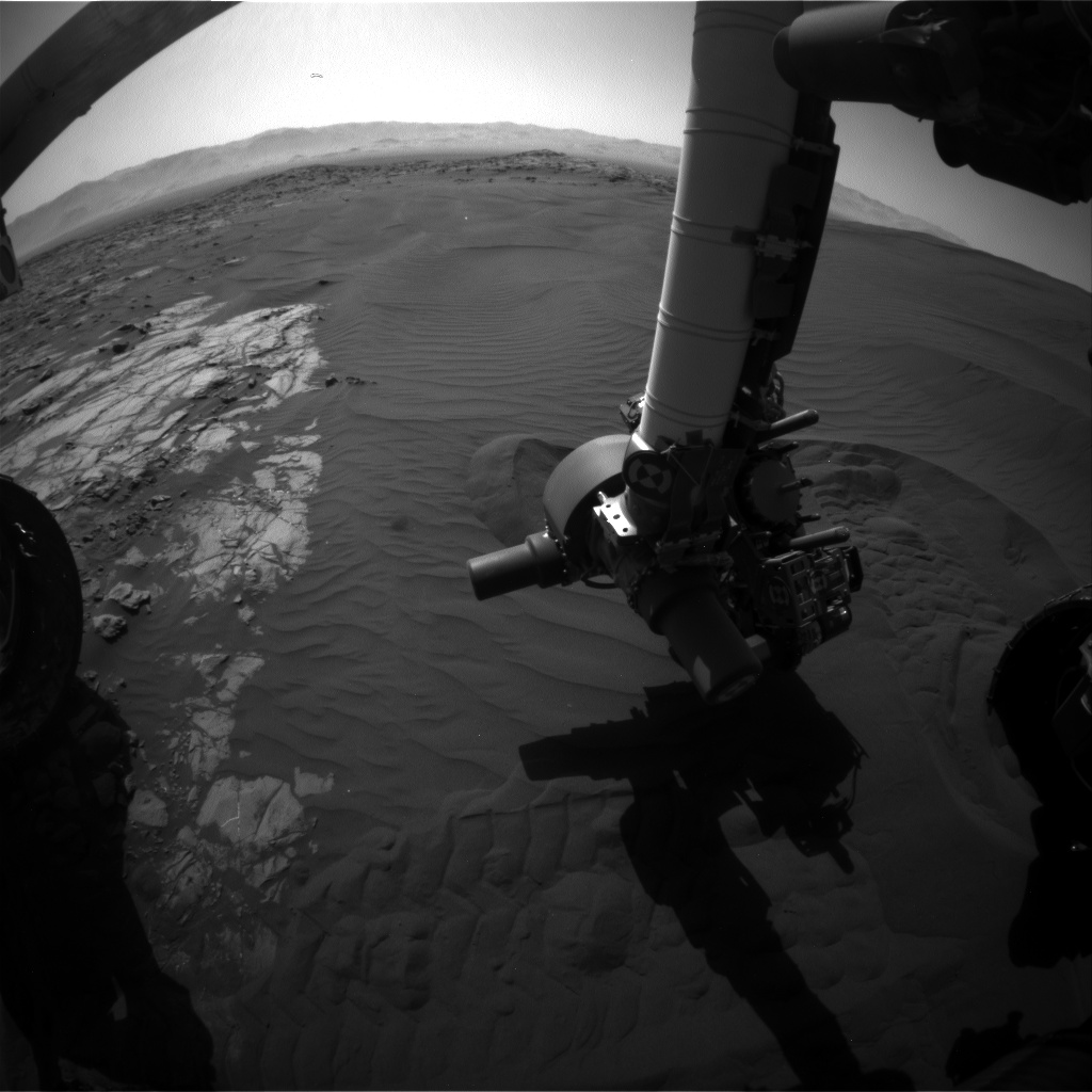 Nasa's Mars rover Curiosity acquired this image using its Front Hazard Avoidance Camera (Front Hazcam) on Sol 1225, at drive 1162, site number 52